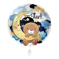 Folienballon 43 cm - Unser Star! Junge
