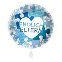 Folienballon 43 cm - Endlich Eltern - blau