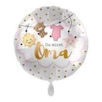Folienballon 45 cm - Du wirst Oma - rosa