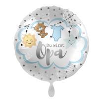 Folienballon 45 cm - Du wirst Opa - hellblau
