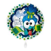 Folienballon  45 cm - Mein erster Schultag - blau
