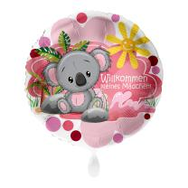 Folienballon 43 cm - Koalabär Willkommen kleines...