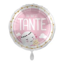 Folienballon 43 cm - Du wirst Tante