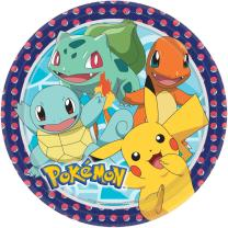 Pokemon - 8  Pappteller 23 cm