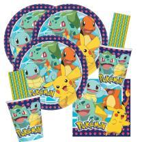 64-teiliges Party-Set Pokemon - Teller Becher Servietten...