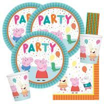 40-teiliges Party-Set Peppa Wutz - Pig - Teller Becher...