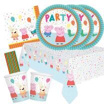 41-teiliges Party-Set Peppa Wutz - Pig - Teller Becher...