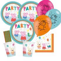 46-teiliges Party-Set Peppa Wutz - Pig - Teller Becher...