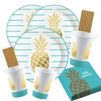68-teiliges Party-Set Pineapple Vibes - Ananas - Teller...