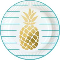 44-teiliges Party-Set Pineapple Vibes - Ananas - Teller...