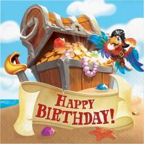 Piratenschiff Happy Birthday - Servietten, 16 Stück...