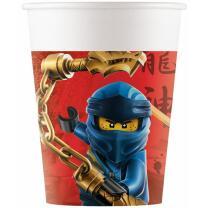 Lego Ninjago - 8  Pappbecher 0,2 l