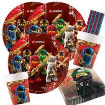 44-teiliges Party-Set Lego Ninjago - Teller Becher...
