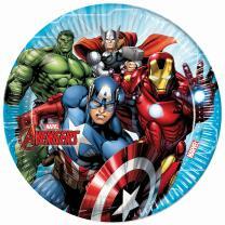 Mighty Avengers  - 8 Pappteller 23 cm