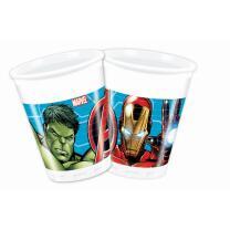 Mighty Avengers - 8 Becher, Plastik, 0,2 l