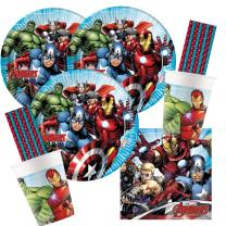 68-teiliges Party-Set MARVEL Mighty Avengers - Teller...