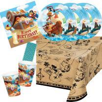 41-teiliges Party-Set - Pirat - Piratenschiff Happy...