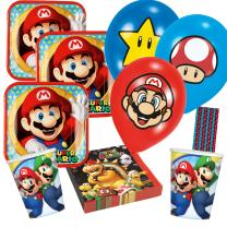 50-teiliges Party-Set Super Mario - Teller Becher...