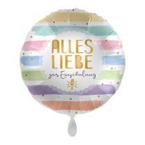 Folienballon 43 cm - Alles Liebe zur Einschulung ohne...