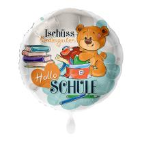 Folienballon 43 cm - Tschüss Kindergarten Hallo...