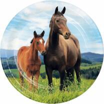 Pferde - Pappteller klein, 8 Stück 17,4 cm
