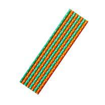 8 Papiertrinkhalme orange-weiß und...