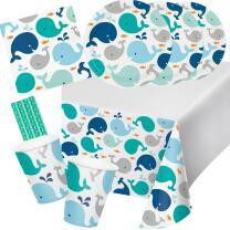 41-teiliges Party-Set Baby shower -  Kleiner Wal blau...