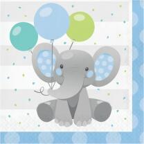 Servietten Bezaubernder Elefant blau16 Stück 33 x 33 cm