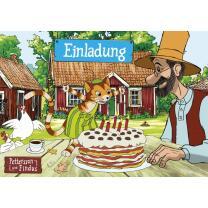 Pettersson und Findus Einladungskarten mit Umschlag, 8...