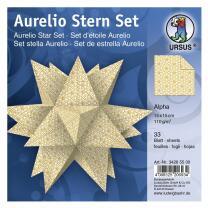 Aurelio Stern Set Faltblätter 15 x 15 cm - Alpha...