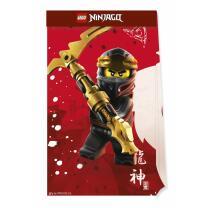 Lego Ninjago - 4 Partytüten aus Papier