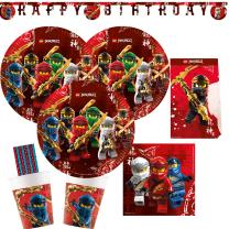 53-teiliges Party-Set Lego Ninjago - Teller Becher...