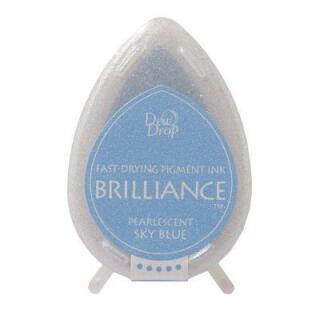 Tsukineko Stempelkissen Dew Drop Brilliance (BD-38) Pearlescent Sky Blue
