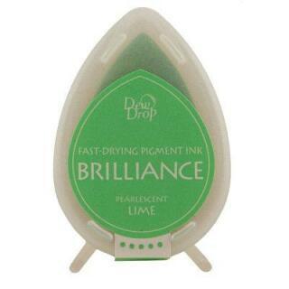 Tsukineko Stempelkissen Dew Drop Brilliance (BD-42) Pearlescent Lime