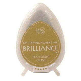 Tsukineko Stempelkissen Dew Drop Brilliance (BD-53) Pearlescent Olive