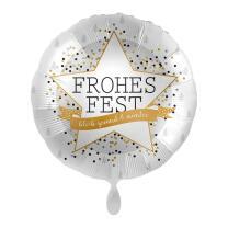 Folienballon 43 cm - Frohes Fest - bleib gesund & munter