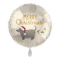 Folienballon 43 cm - Merry Christmas!