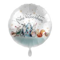 Folienballon 43 cm - Frohe Weihnachten - Tiere