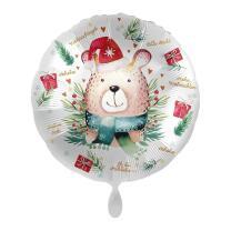 Folienballon 43 cm - Frohes Fest - Bär mit...