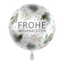 Folienballon 43 cm - Frohe Weihnachten - Tannenzweige