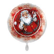 Folienballon 43 cm - Fröhliche Weihnachten -...