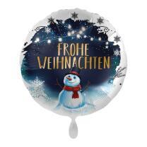 Folienballon 43 cm - Frohe Weihnachten - Schneemann