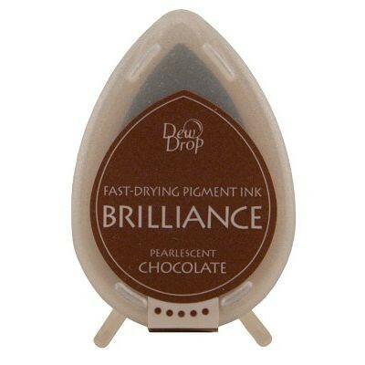 Tsukineko Stempelkissen Dew Drop Brilliance (BD-76) Pearlescent Chocolate