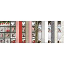 Bastelblock Landhaus Winter, 300 g/m²,  16 Blatt 24...