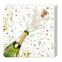 Silvester Party - Servietten, 20 Stück 33 x 33 cm