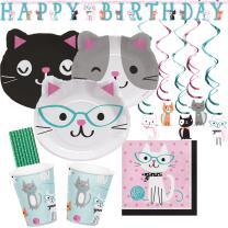 42-teiliges Party-Set Katze - Kätzchen - Teller...