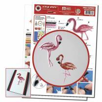 Karen Marie Quilling-Flamingo klein - Anleitung