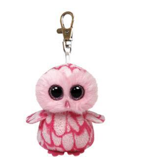 Ty Beanie Boos Glubschi Schlüsselanhänger Eule Schleiereule - Pinky 8,5 cm