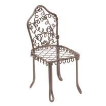 Miniatur Stuhl aus Metall,  ca.7 cm