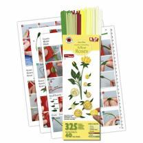 325 Quilling Papierstreifen Gelbe Rosen-Set 3 mm